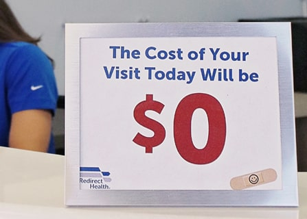 Cost of visit is $0 today