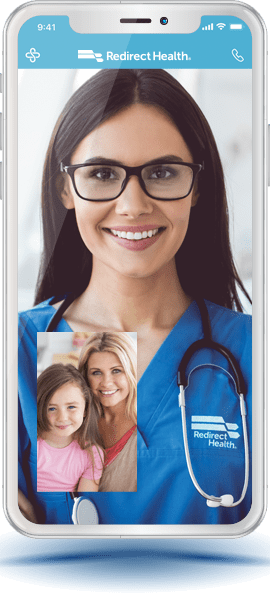 Virtual Primary Care Redirect Health app to meet with health providers